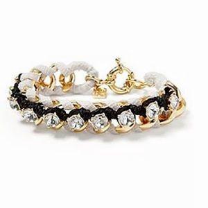 BANANA REPUBLIC wrapped link rhinestone bracelet